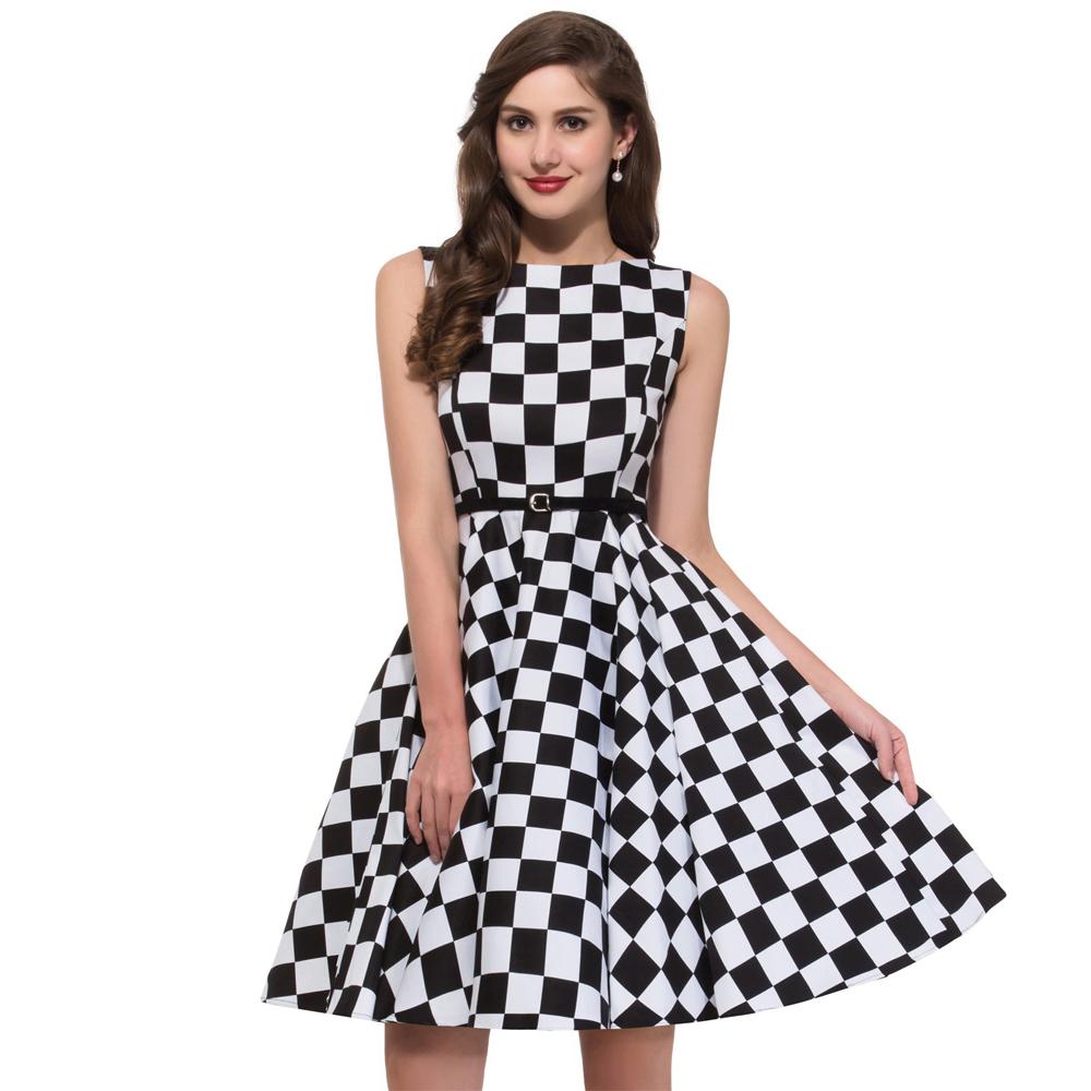 summer style 50s rockabilly dress 50 jahre kleid leo pin. Black Bedroom Furniture Sets. Home Design Ideas