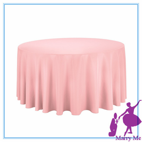 10pcs Round 100% Polyester Table cloth Good Quality Table clothes for wedding supply(China (Mainland))