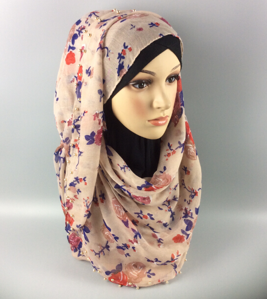 X6 flower gold ball hijab ,big size shawl viscose scarf ,10pcs 1lot ,180*90cm ,can choose colors(China (Mainland))