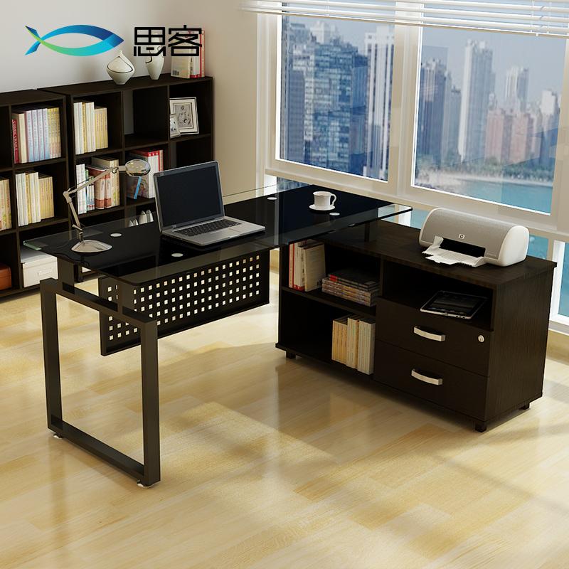 Mejor fuera de oficinas de vidrio muebles jefe escritorio - Mesa escritorio esquina ...