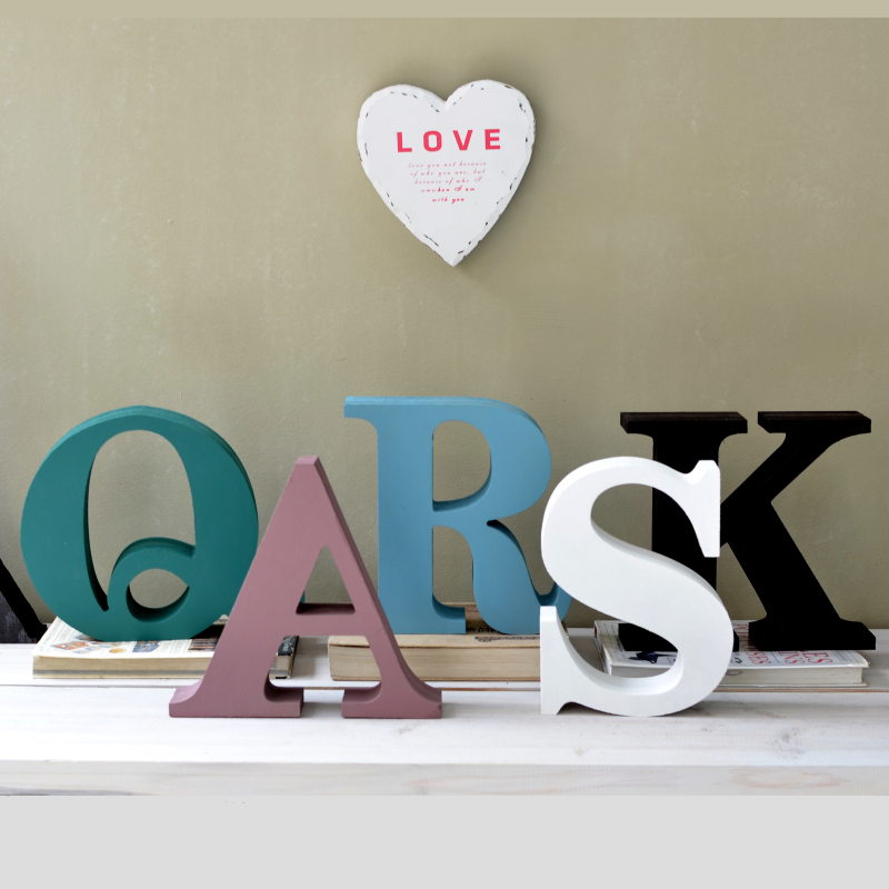 Nordic style high-density letters ABCDEFGHIJKLMNOPQRSTUVWXYZ Home decor Decoration Kids wedding Room decorations,birthday gift(China (Mainland))
