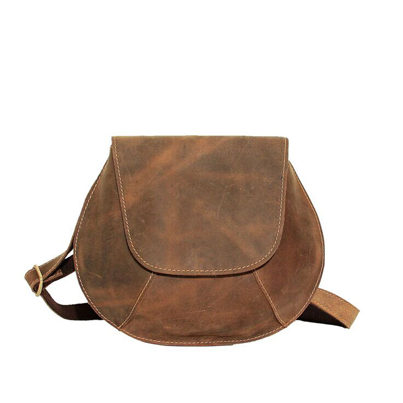 Men package New The whole Leather Single shoulder Messenger Bag Crazy horse Pure handmade Saddle