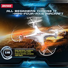 Skytech M62 2.4G 4CH 6-Axis Remote Control RC Helicopter Quadcopter Toys Drone Ar.Drone M62R With Flash Night Lights