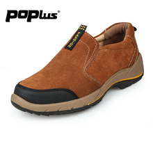 men's casual shoe slip on autumn breathable suede loafer for men british style leather shoe male fashion outdoor Walking shoe