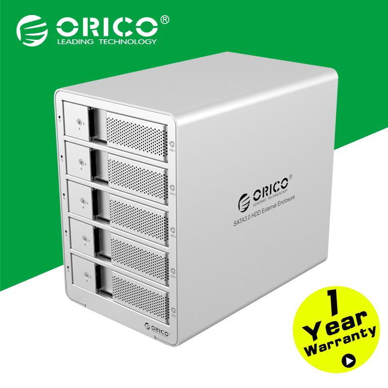 ORICO 9558U3 Aluminum 5 bay 3.5'' USB3.0 ESATA HDD case HDD Enclosure HDD Docking Station Case(China (Mainland))