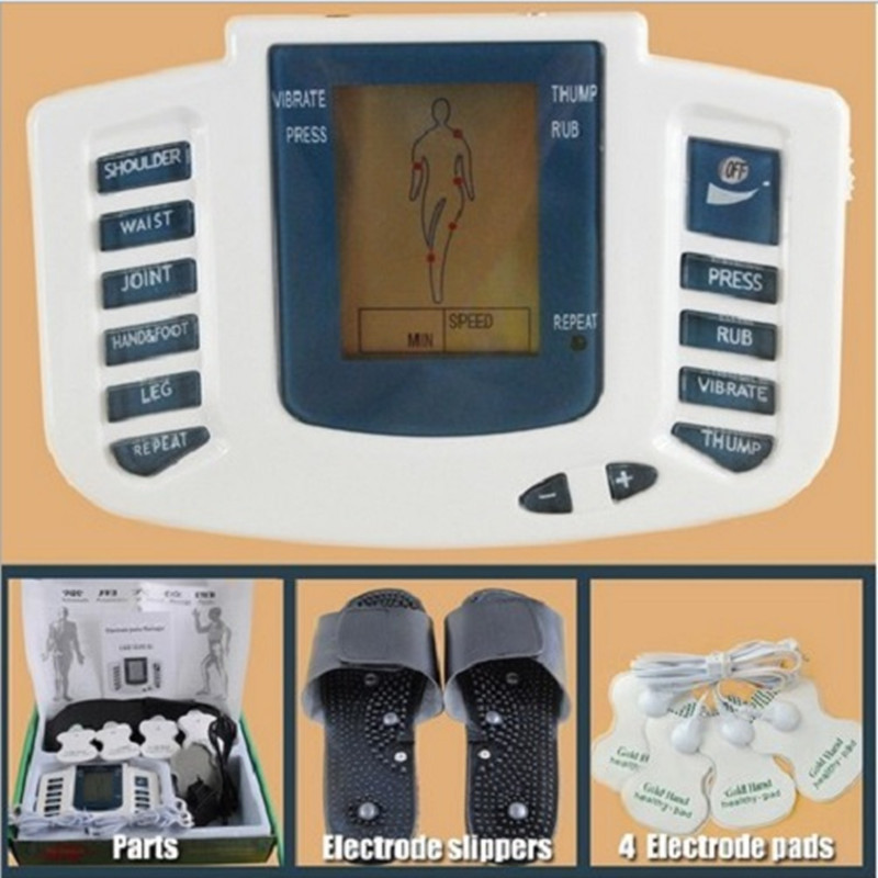 JR-309 New Electrical Stimulator Full Body Relax Muscle Massager,Pulse tens Acupuncture therapy slipper+ 6 Electrode pads(China (Mainland))