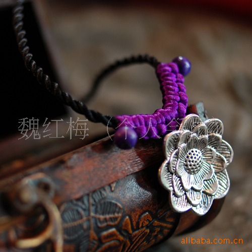 [NO.3034] wholesale sweater chain manufacturers selling original ethnic Handmade Tibetan silver necklace features(China (Mainland))