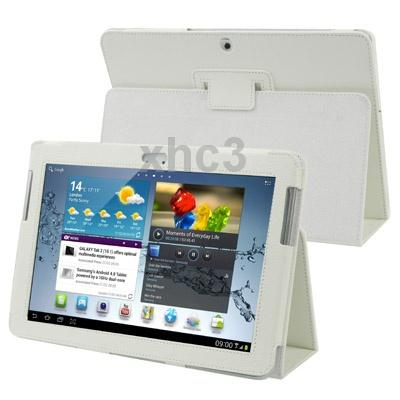 Гаджет  Litchi Texture Leather Case with Holder for Samsung Galaxy Tab 2 10.1  P5100 White None Изготовление под заказ