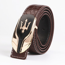 hot sale mens desinger brand selling high-end fashion ladies PU leather belt smooth car  buckle luxury straps cinto feminino 80