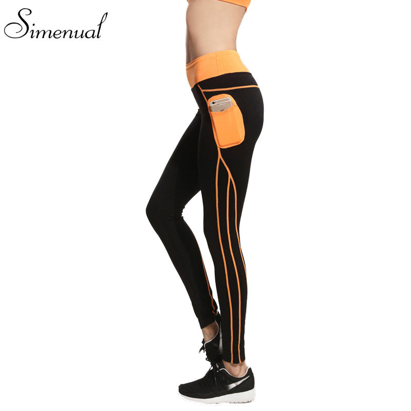 2016 Summer new sport leggings for women harajuku fashion slim fitness pocket slim running legging sports clothing leggins sale(China (Mainland))
