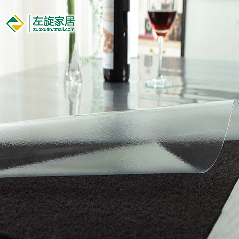 Pvc table cloth soft glass tablecloth sinistral transparent soft glass waterproof table cloth crystal plate plastic table cloth(China (Mainland))