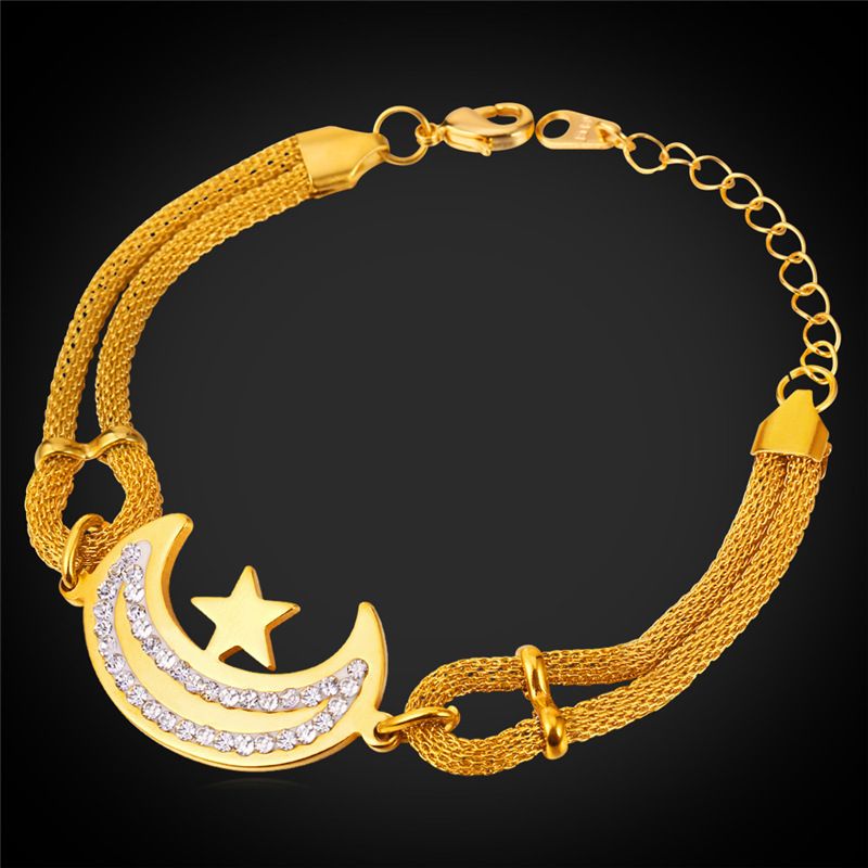 18K Gold Plated/Stainless Steel Sailor Moon/Heart/Clover Bracelet Women Fashion Jewelry Wholesale Best Friends Bracelets GH1526(China (Mainland))