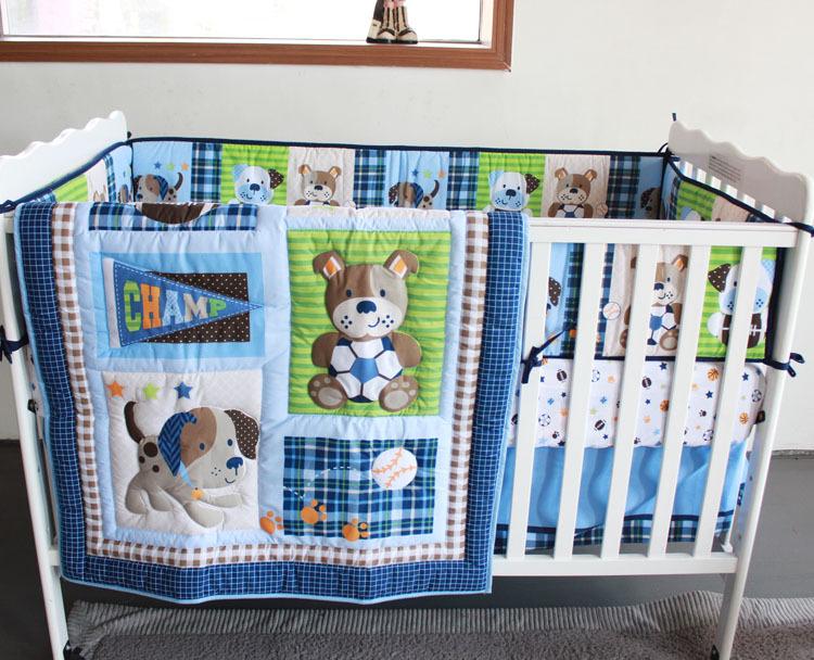 Puppy Dog Crib Bedding