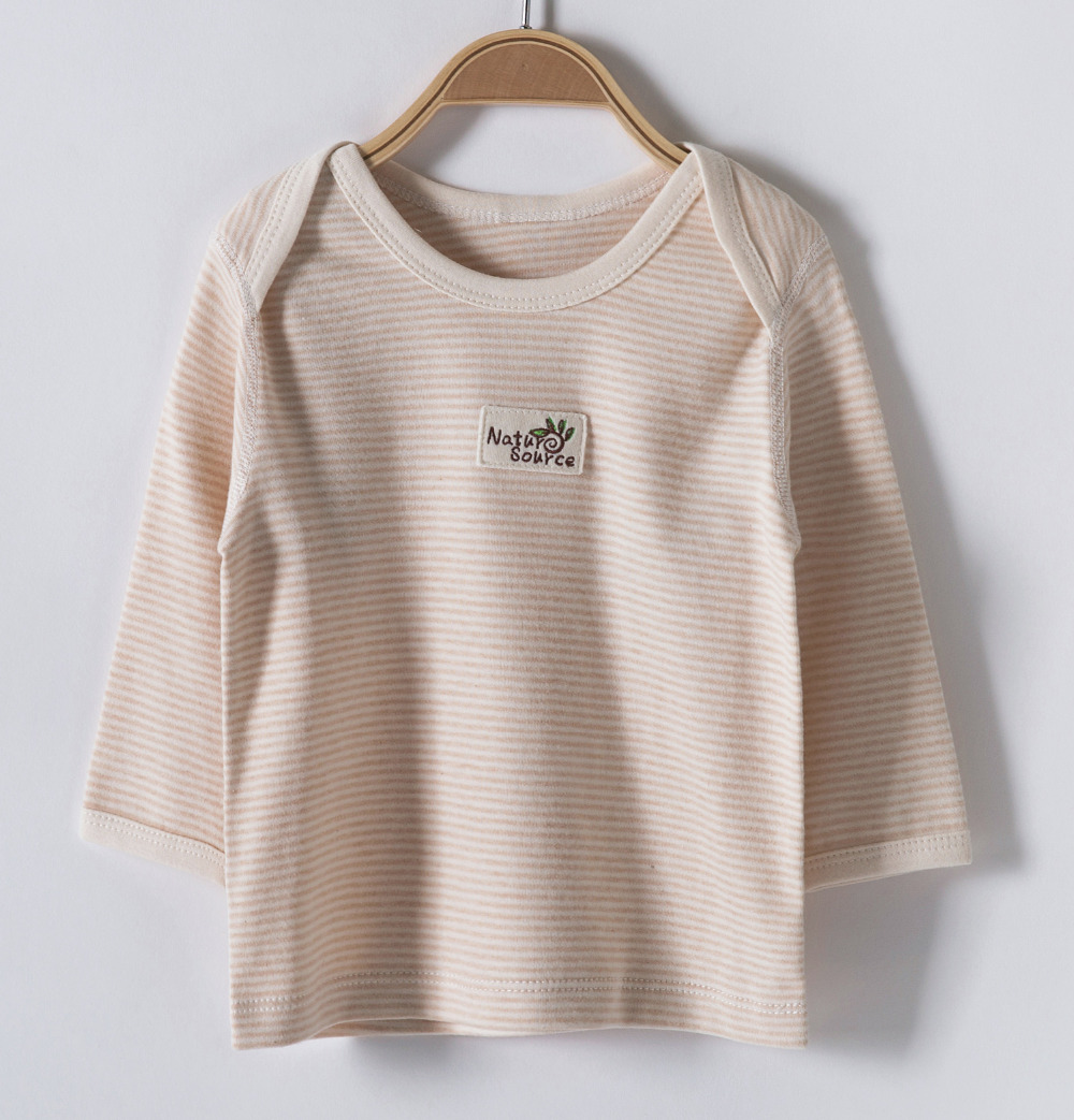 Organic cotton baby clothes KoreanFour seasons new style Envelope collarBaby warm T shirt(China (Mainland))