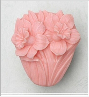 Lily design 75*65*32mm size Flower Solicone Cake Mold handmade soap chocolate making accessary tools(China (Mainland))
