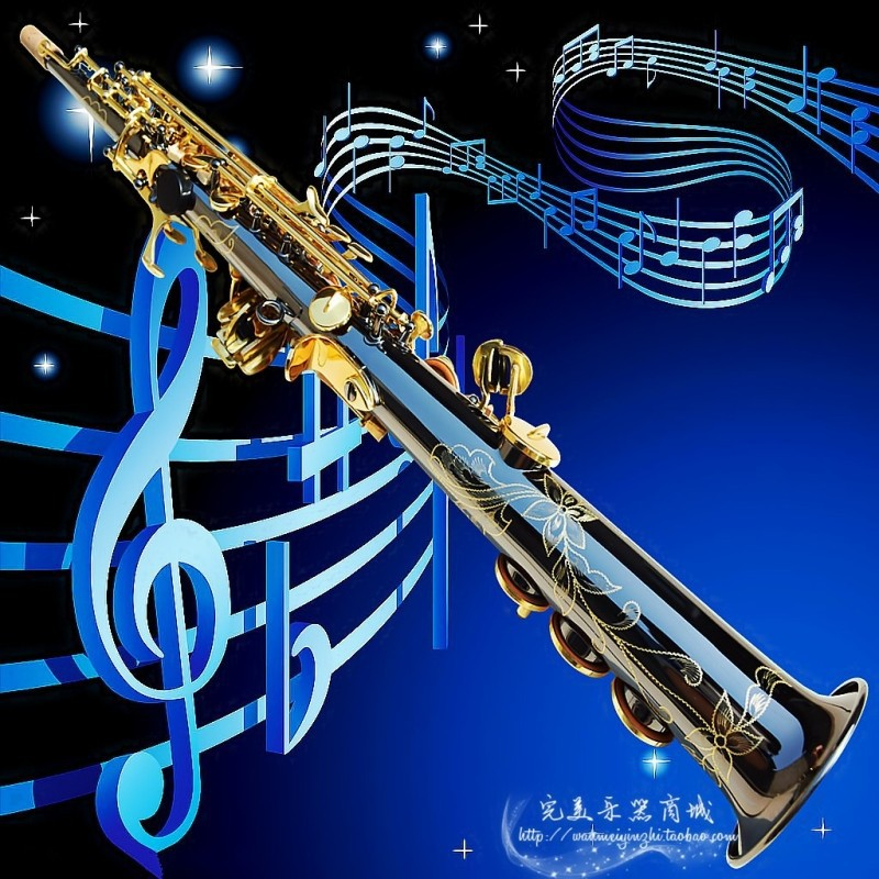 French Selmer High-pitch Soprano Saxophone One Piece Straight B Flat Saxe Top Musical Instrument Black Ni-Au<br><br>Aliexpress