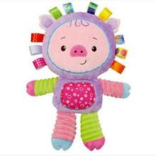New arrival Baby toy  Comforting doll with BB rattles Toys for baby 0-13 years baby play toy Appease dolls WJ199-WJ202(China (Mainland))