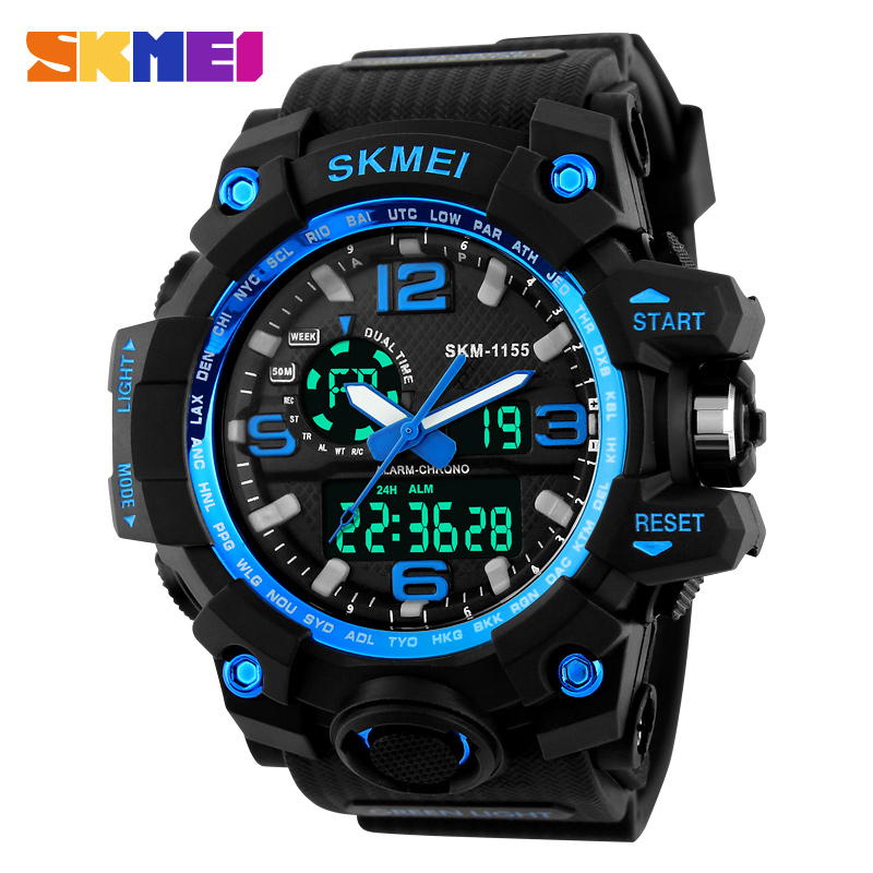 Fashion LED Male Wristwatches Big Dial Waterproof Electronic Watch Fashion Multifunctional Aport Outside The Trend Of Male Watch(China (Mainland))