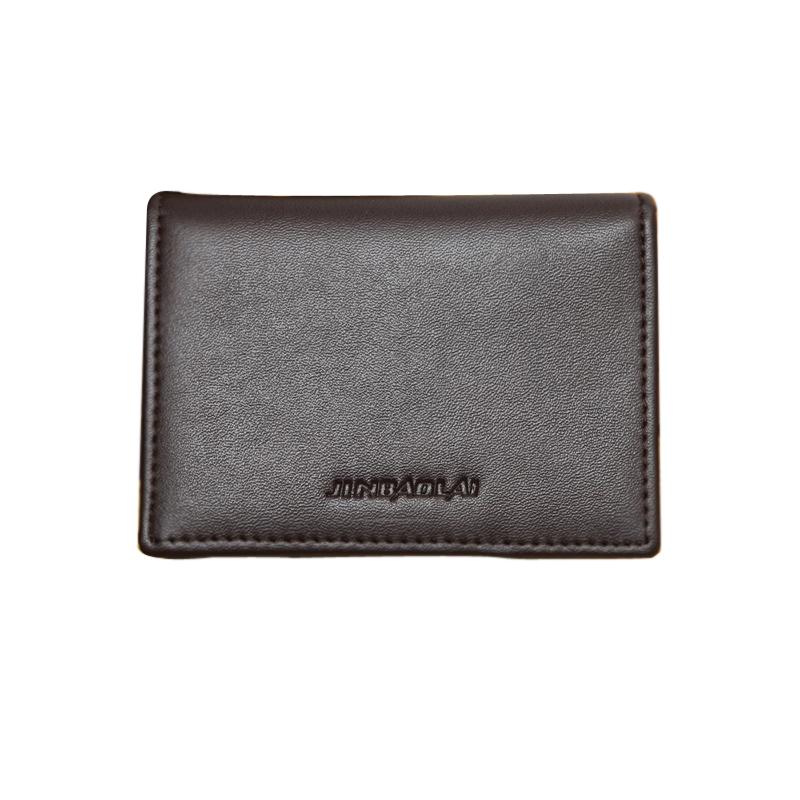 Men39s leather credit card holder case card holder business for Mens business card case