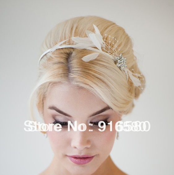 New Design Bridal Headbands Wedding Accessories Feather Headbands Crystal Designs