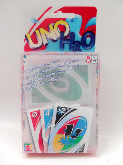 Transparent Waterproof UNO H2O Card Game Playing Family Fun
