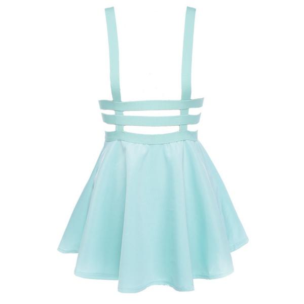 2019 Wholesale New Retro Women Hollow Mini Skater Skirt Summer Cute ... c2cad25d9