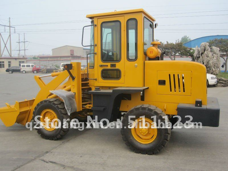 Concrete Plant Loader : Construction machinery with wheel loader concrete mixing