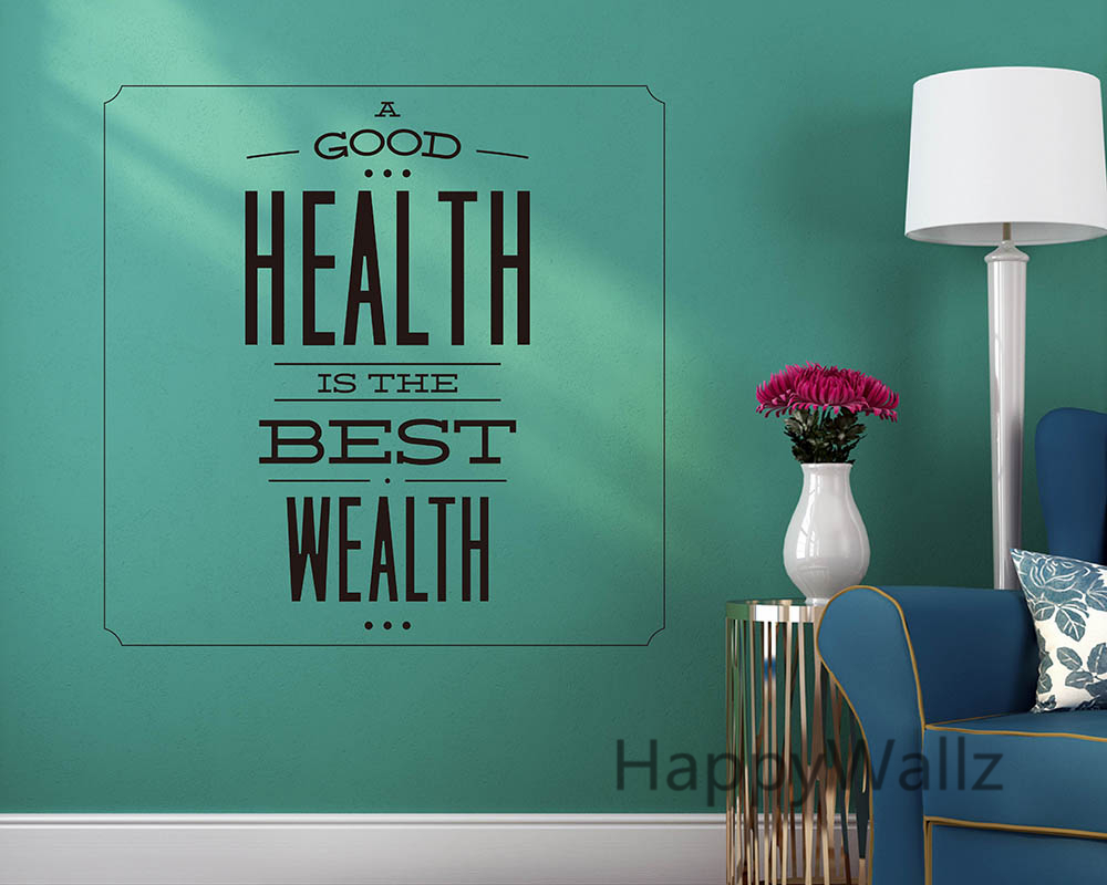 motivational quote wall sticker good health is best wealth
