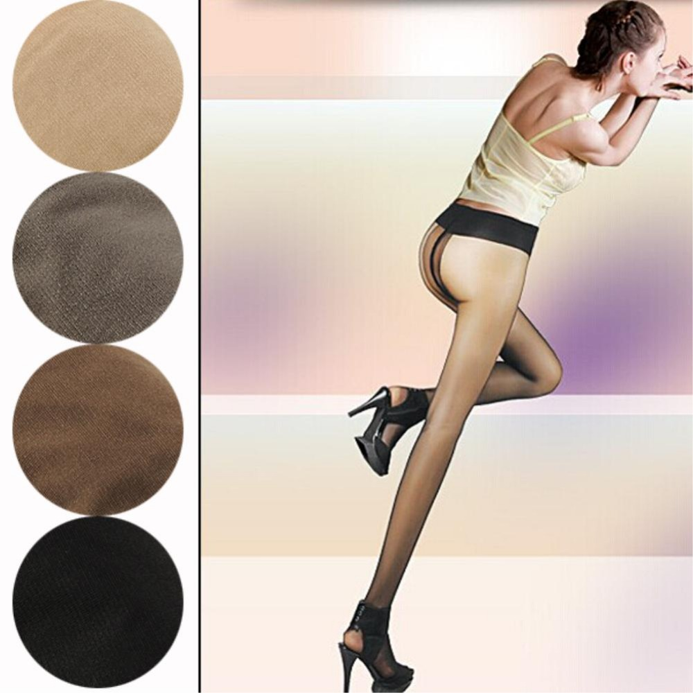 Sexy Women Glossy Pantyhose Transparent Tights Stretch Leggings T Crotch Thin EQB376Одежда и ак�е��уары<br><br><br>Aliexpress