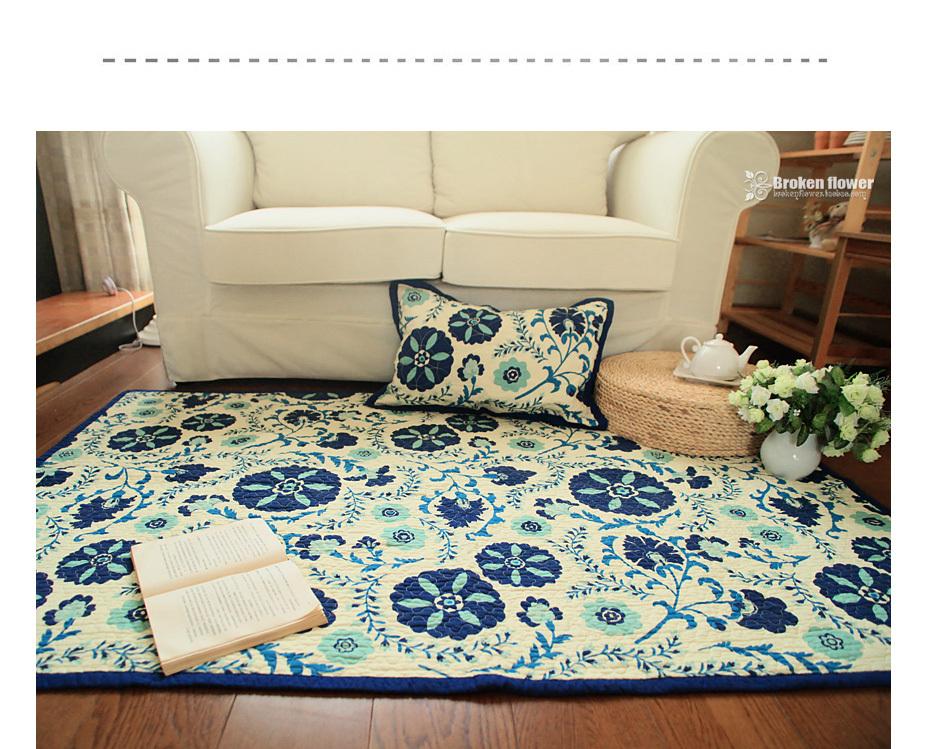 Azul alfombra de flores compra lotes baratos de azul for Ikea alfombra azul