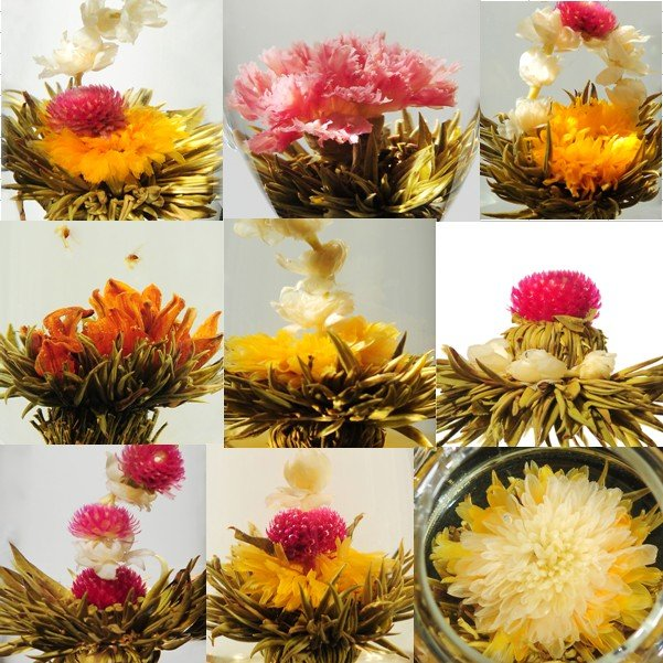 Good quality TEA 20 kinds Blooming Flower Tea, Art Tea,Blossom Tea,natural herbal for slimming, promotion,A2CK22,Free Shipping(China (Mainland))