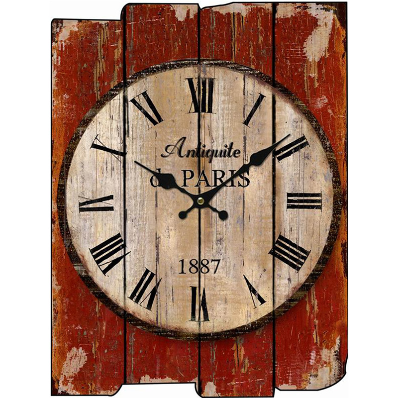 Wood Wall Clock Vintage Quartz Large Wall Watch Roman Numbers European Style Mordern Design Square Wall Clocks(China (Mainland))