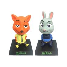 New Hot Anime Movie Zootopia Toys Cartoon Utopia Nick Fox & Judy Rabbit Action Figures Model Toys Car Ornaments Decoration