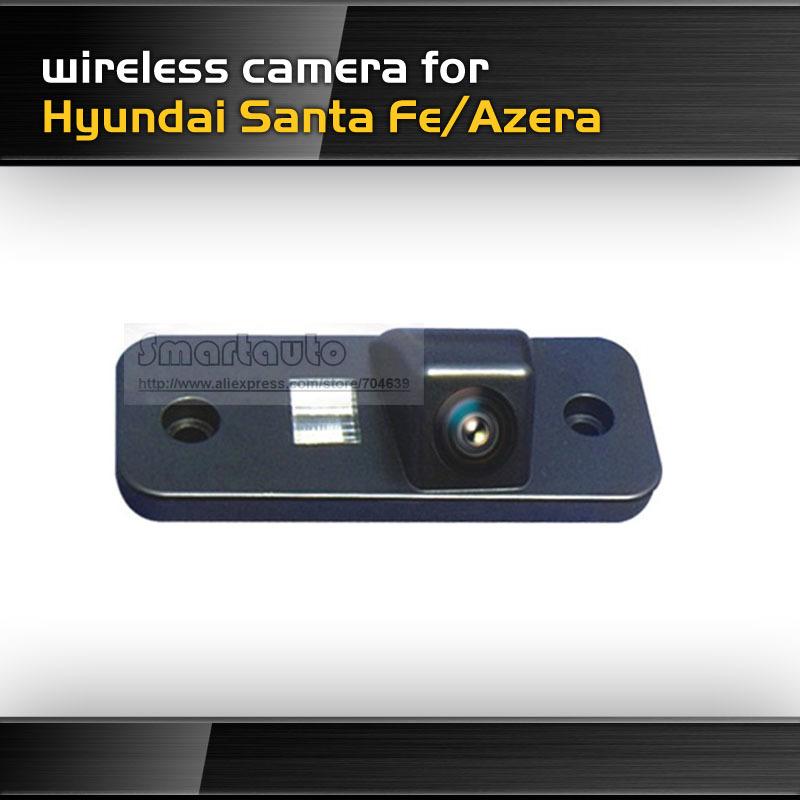 Wired wireless Car reverse Camera For Hyundai Santa Fe Azera ! CCD Night vision car rear view Camera Security(China (Mainland))