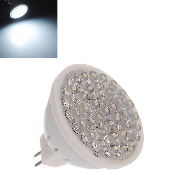 Wholesale Price Best Promotion MR16 GU5.3 38 LED Bright White Spot Light Spotlight Bulb Lamp 220V(China (Mainland))