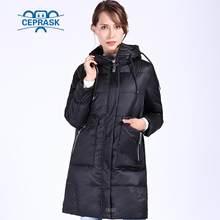 CEPRASK 2018 новая зимняя куртка высокого качества Женская Плюс Размер 6XL длинный био пух Женская парка зимнее пальто с капюшоном теплый пуховик(China)