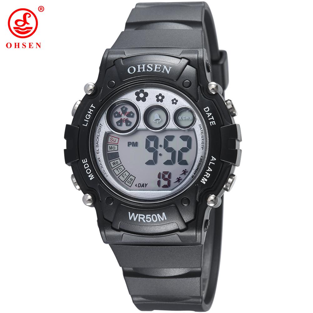 OHSEN Waterproof Children Boys Girls LED Digital Watch Alarm Date Chronograph Swim Dive Sports Watches Student Clock Xmas Gift<br><br>Aliexpress