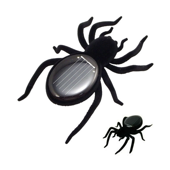 Novelty Toys New High Quality Solar Power 8 Legs Black Crazy Spider Children Toy Solar Energy Toy HB88(China (Mainland))
