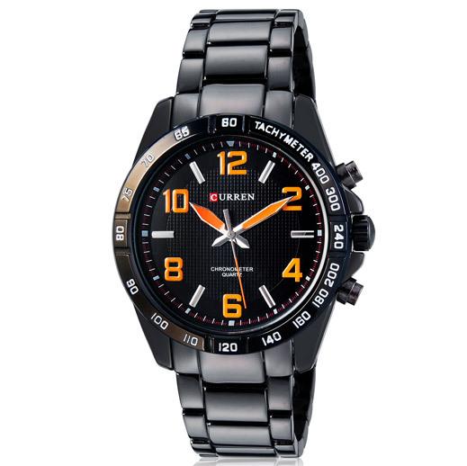 Гаджет  New Style Fashion Black Tungsten Steel Wrist Watch CURREN 8107 Quartz Analog Watch Men