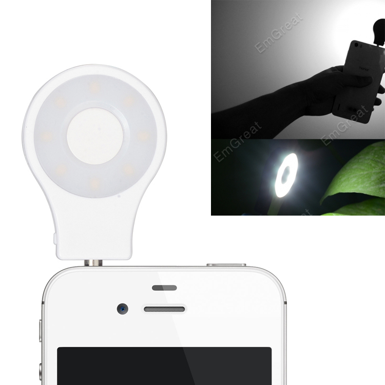 LED Video Light Camera Fill Light Cell Phone CRI 95+ Spotlight Flash for iphone 6 6S 5 5S 4 4S Samsung S4 S5 S3 Note Smartphone(China (Mainland))
