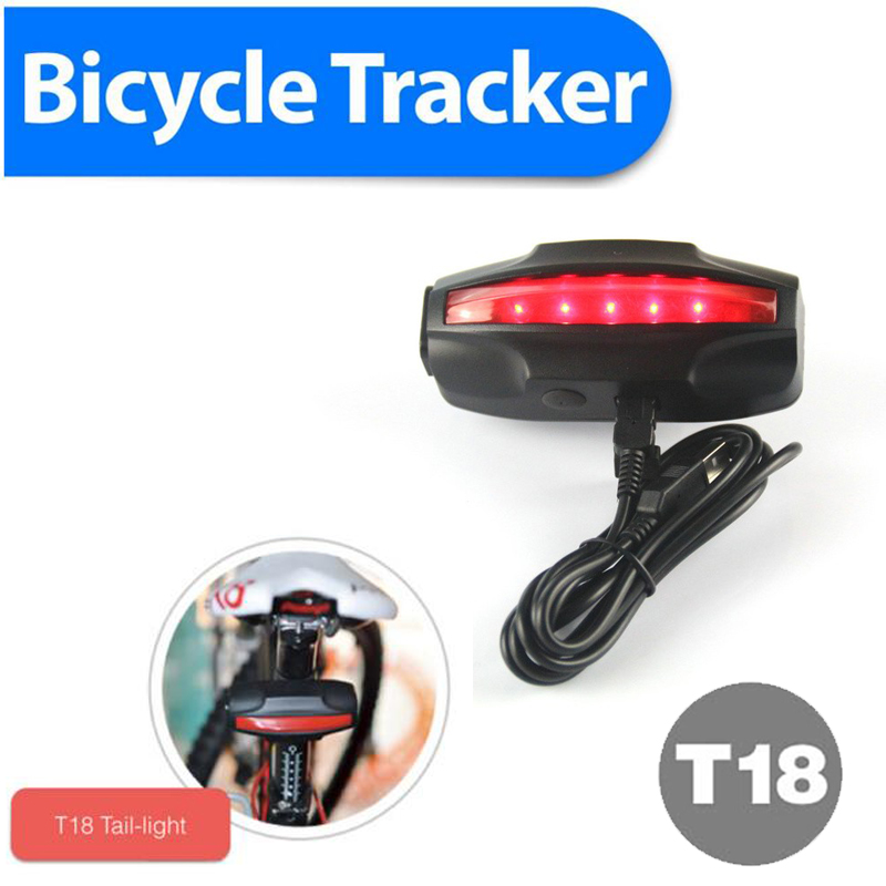 Waterproof IPX7 LED Taillingt bike gps trackers Bicycle gps tracker GPS/GSM/GPRS Quad Band Real-time Google Map Tracking System(China (Mainland))
