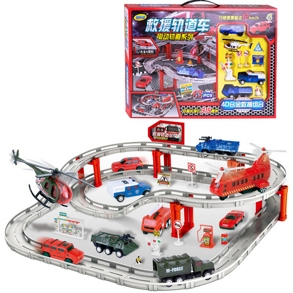 Free Shipping Sale Set alloy fire truck model toy electric rail car children's rubber band plane rolls royce for kids(China (Mainland))