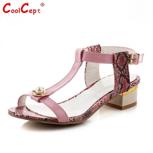 Женщины лодыжки ремень стилет квадратные высокий каблук сандалии сексуальная милая ...