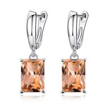 MISANANRYNE 16 couleurs luxe cristal goutte boucle d'oreille pour les femmes de haute qualité forme carrée bijoux mariage robe de soirée boucles d'oreilles N(China)