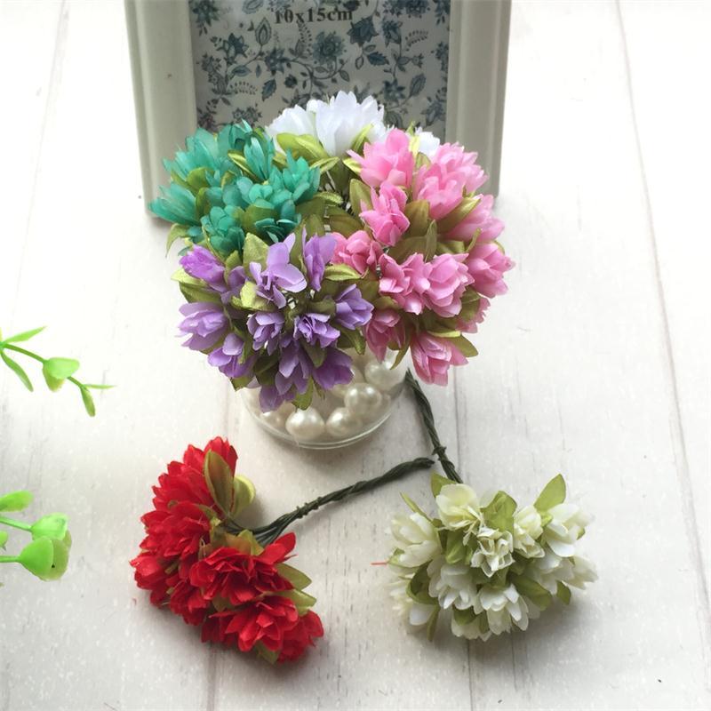 36pcs/lot 2cm Silk Scrapbooking Mini Rose Artificial Flowers Heads Bouquet For Wedding Decoration DIY Wreath Gift Craft Flower(China (Mainland))