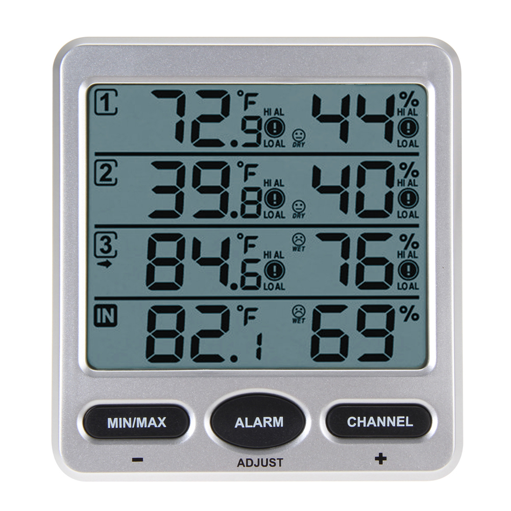 Original WS-10 Ambient Weather Wireless LCD Digital Thermometer Humidity Indoor/Outdoor 8 Channel Thermo Hygrometer(China (Mainland))