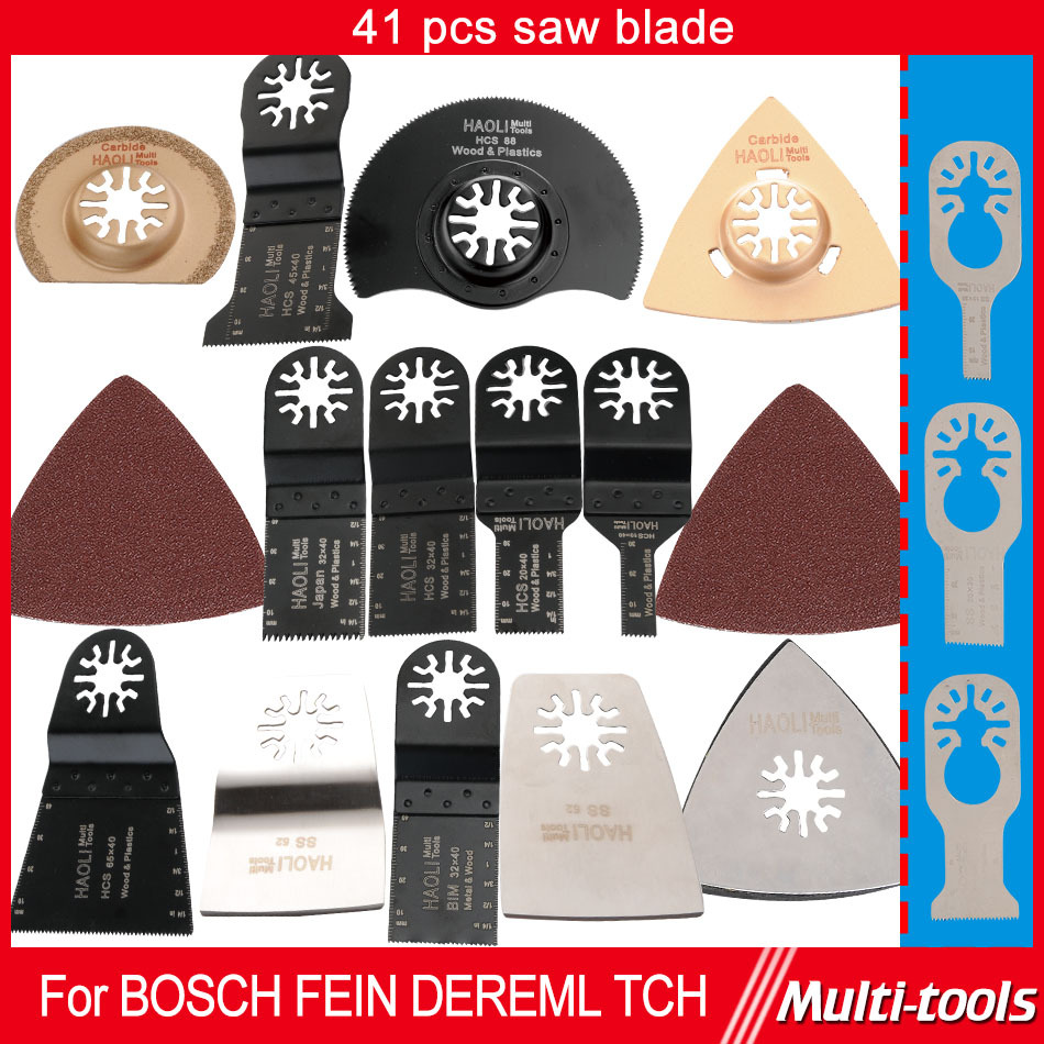 41 pcs set Oscillating Tool Saw Blades Accessories fit for Multimaster power tools as Fein Dremel