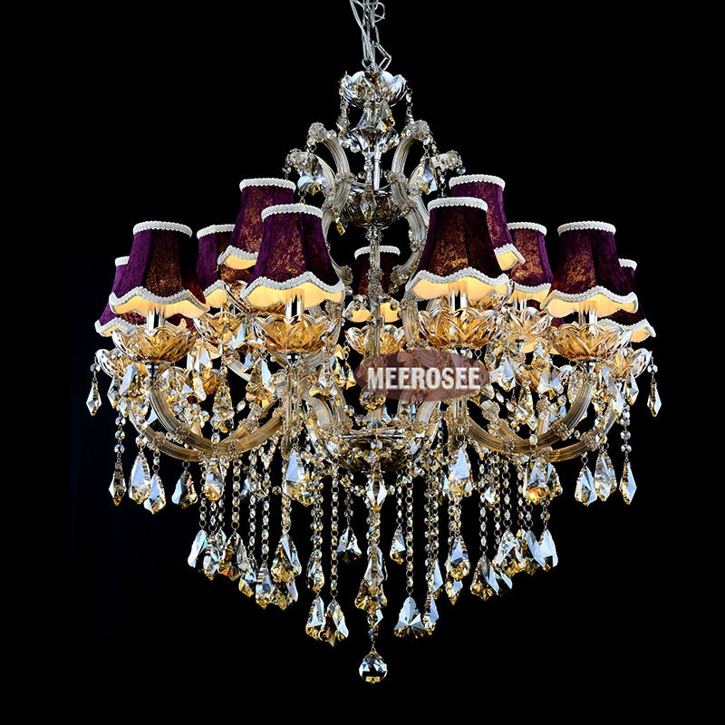 Galaxy Cognac color Crystal Hotel Chandelier Torch Cristal lustres pendentes Large Hanging luminaire with 15 lights MD88062 <br><br>Aliexpress