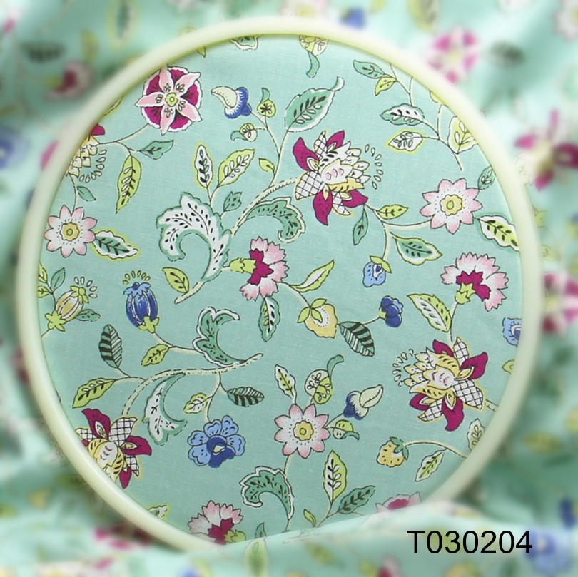 New! Vintage Green Flowers Cotton fabric for sewing Clothes bedding Table Cloth Curtain Quilting T030204 100x160cm(China (Mainland))