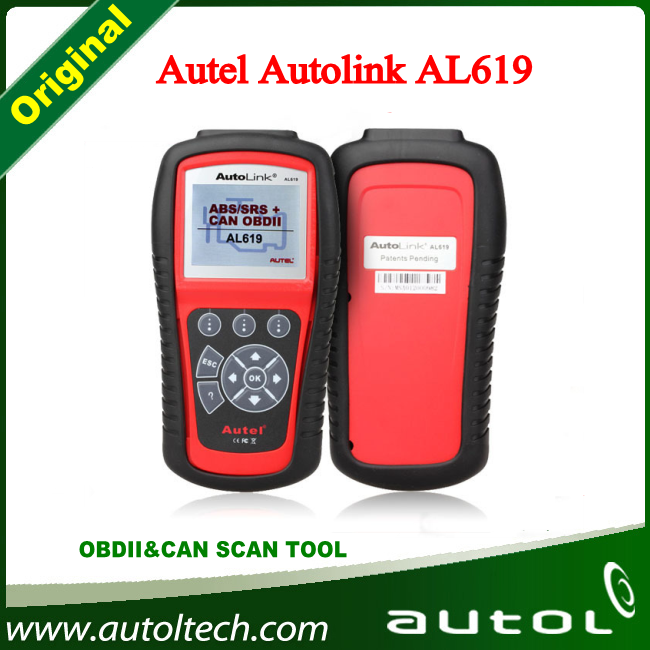 100% Original Autel Scanner AutoLink AL619 OBDII CAN ABS SRS Airbag Reset DTC Scan Tool Update Online(China (Mainland))